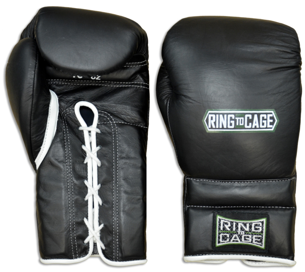 링투케이지 RingToCage Japanese Style Training Gloves 2.0 - Laceup14oz BLACK 블랙