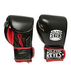 레예스 글러브 Cleto Reyes Lace up Hook and Loop Hybrid Boxing Gloves (Black)