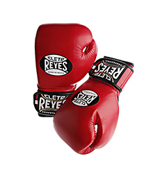 레예스 글러브 Cleto Reyes Lace up Hook and Loop Hybrid Boxing Gloves (Red)