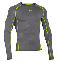"UNDER ARMOUR COMPRESSION SHIRT ""ARMOUR HEATGEAR PRINTED""-LONGSLEEVE"