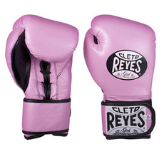 레예스 글러브 Cleto Reyes Lace up Hook and Loop Hybrid Boxing Gloves (Pink)