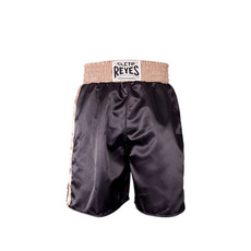 클레토 레예스 복싱 트렁크 Cleto Reyes Boxing trunk in satin polyester(Black&Gold)