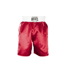 클레토 레예스 복싱 트렁크 Cleto Reyes Boxing trunk in satin polyester(Red&White)