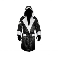 레예스 복싱가운 Cleto Reyes Boxing Robe with Hood in Satin Polyester(Black & White)