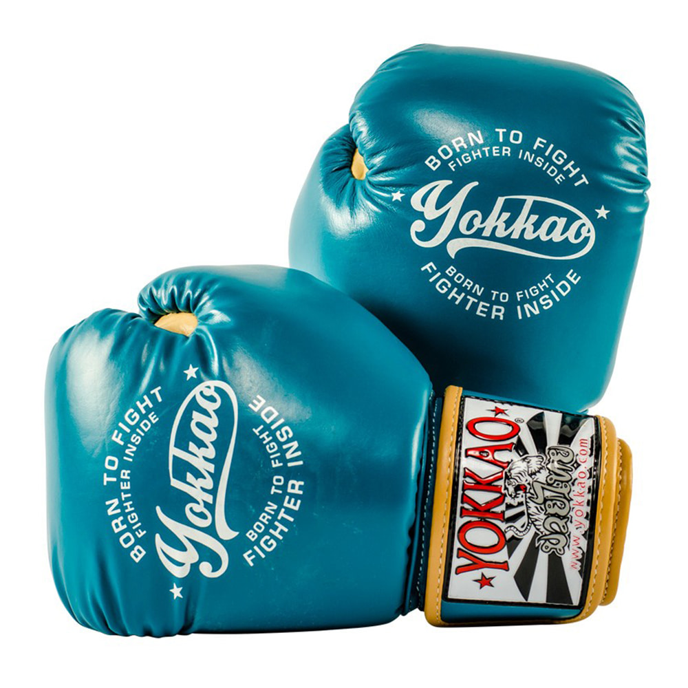 요카오 빈티지 복싱 글러브 블루 (10OZ,12OZ,14OZ) YOKKAO VINTAGE BOXING GLOVES BLUE [FYGL-25-3]