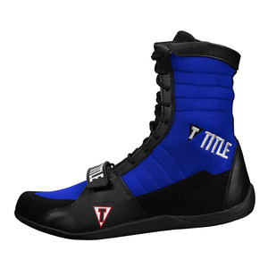 타이틀 링 프릭 복싱 슈즈 블랙/블루 TITLE RING FREAK BOXING SHOES BLACK/BLUE [TBS18 BK/BL]