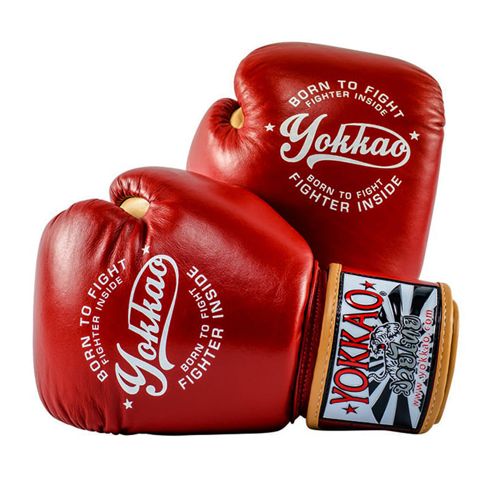 요카오 빈티지 복싱 글러브 레드 (10OZ,12OZ,14OZ) YOKKAO VINTAGE  BOXING GLOVES RED [FYGL-25-2]